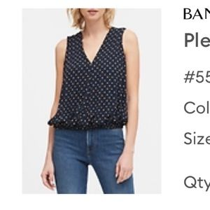 NWT BR Sleeveless Polka Dot Blouse